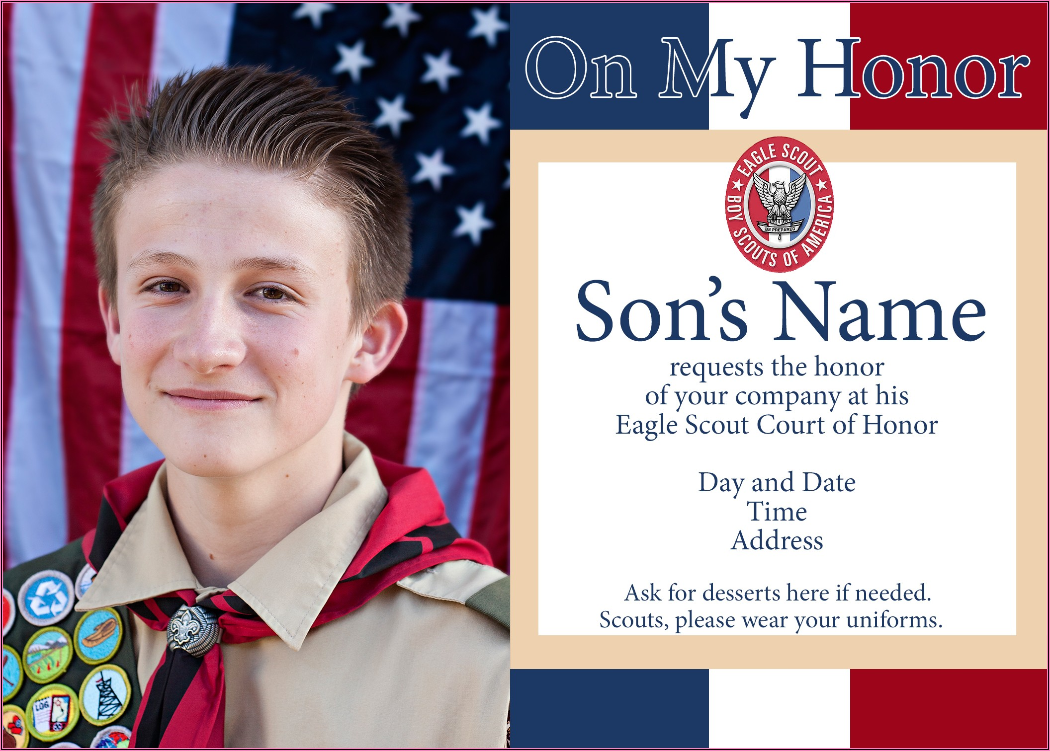 Shutterfly Eagle Scout Court Of Honor Invitations