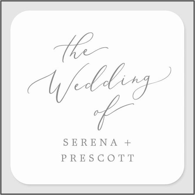 Silver Wedding Envelope Seals