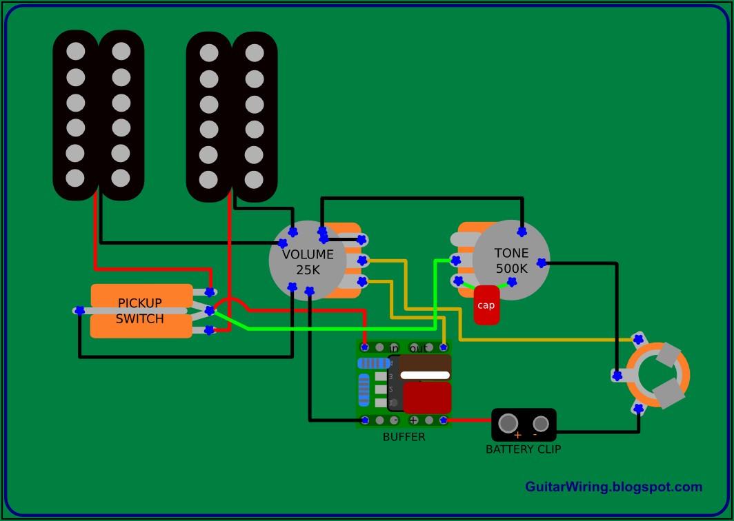 Simple Electric Guitar Wiring Diagram