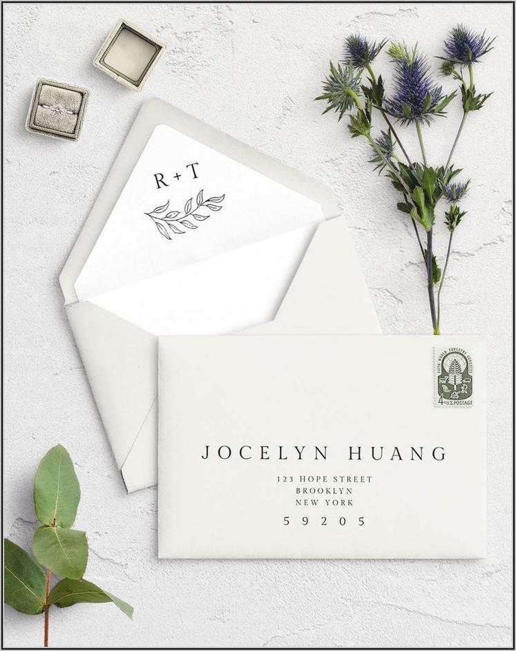 Square Flap Envelope Template