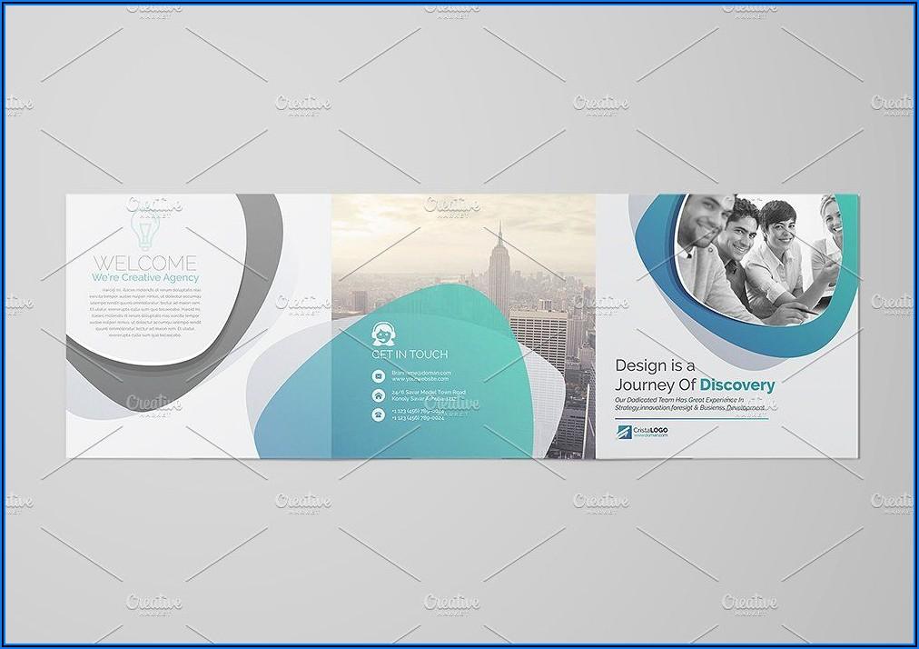 Square Trifold Brochure Size