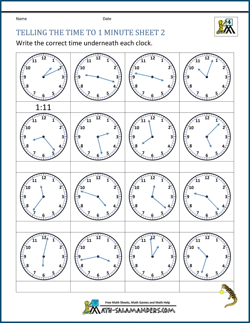 Teaching Image Time Worksheets