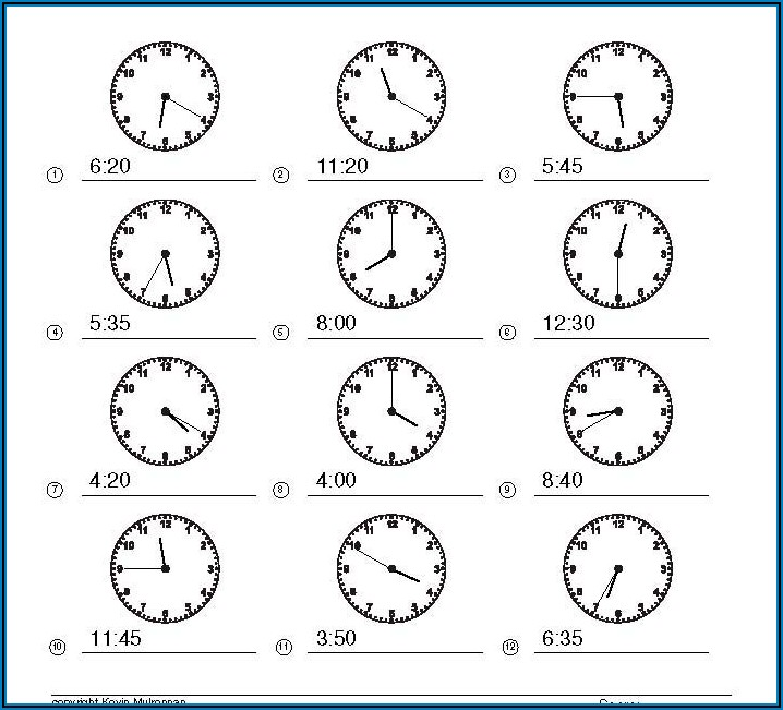 Teaching Telling The Time Worksheets