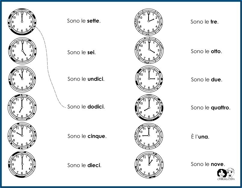 Telling Time Exercises In Spanish