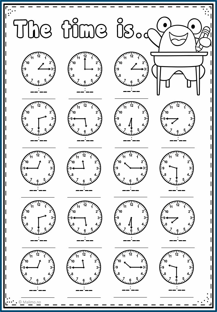 Telling Time In Spanish Worksheets Doc