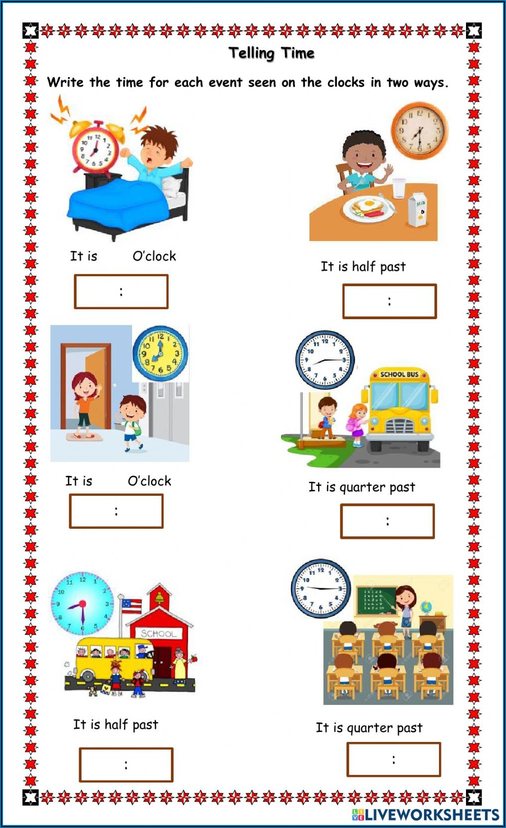 Telling Time In Two Ways Worksheet