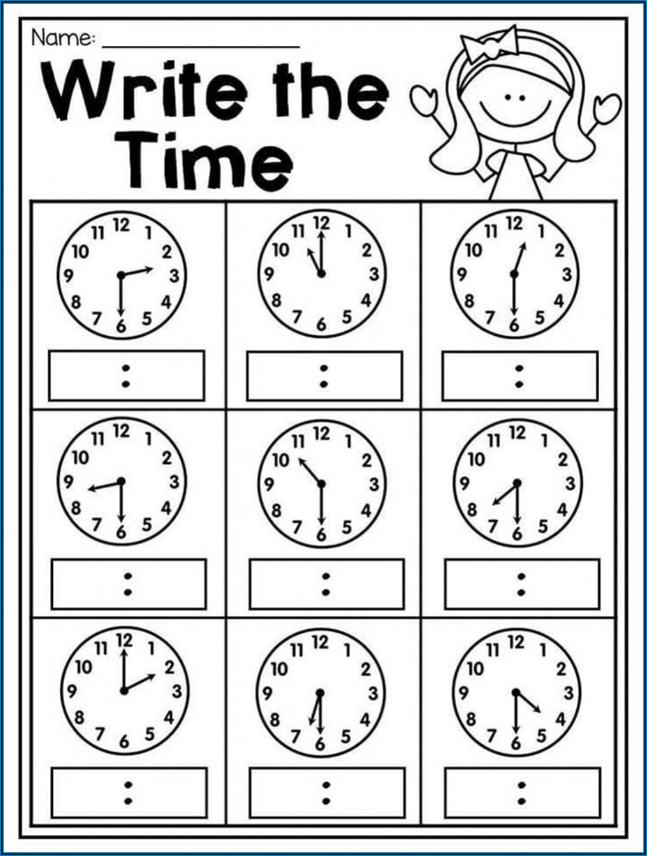 Telling Time Spanish Worksheet Pdf