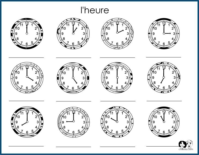 Telling Time Worksheet Spanish