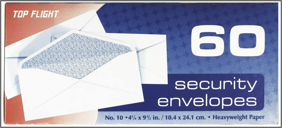 Top Flight Boxed Security Envelopes