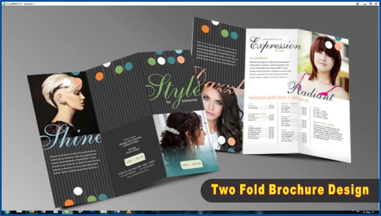 Tri Fold Brochure Design In Coreldraw