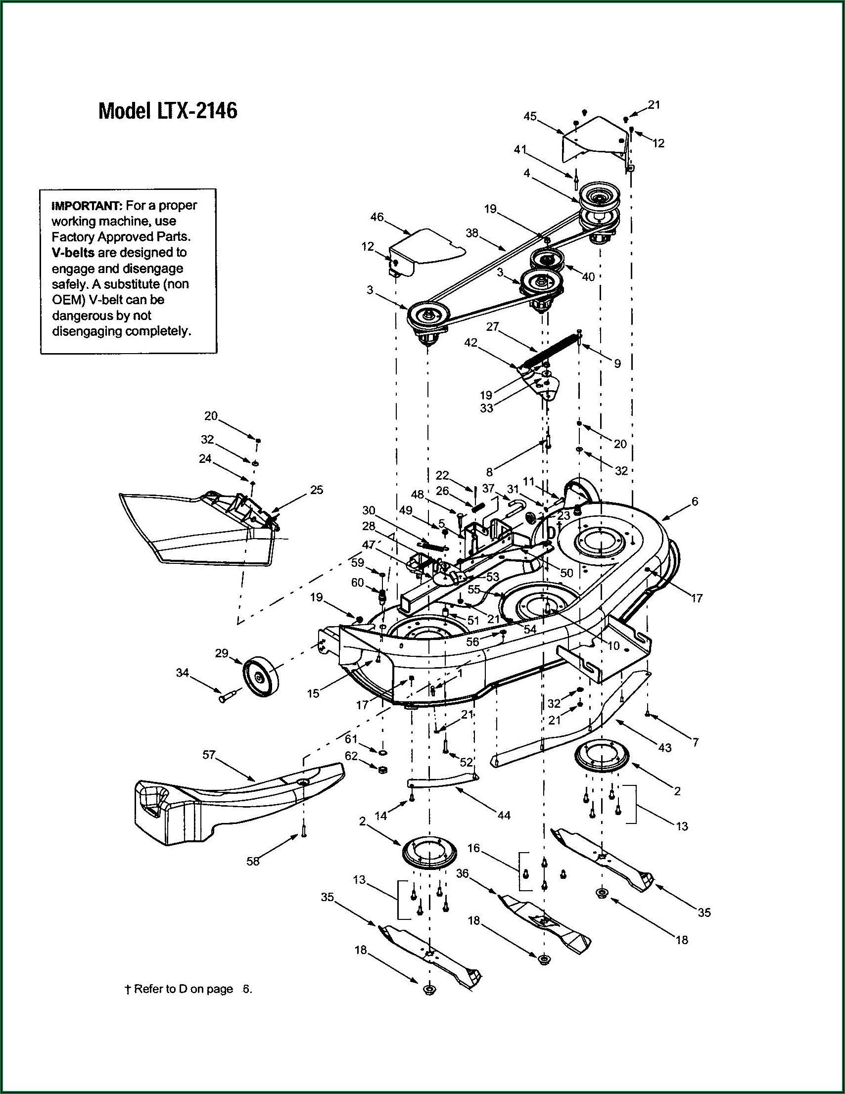 Troy Bilt 42 Inch Deck Belt Diagram