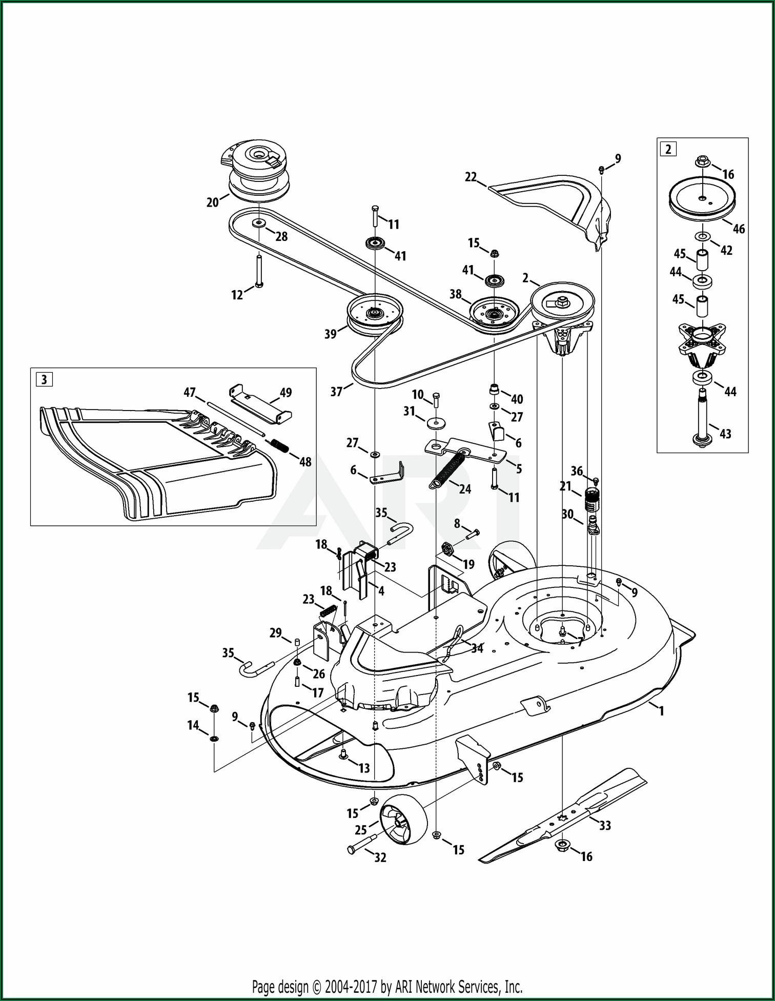 Troy Bilt 46 Mower Deck Diagram