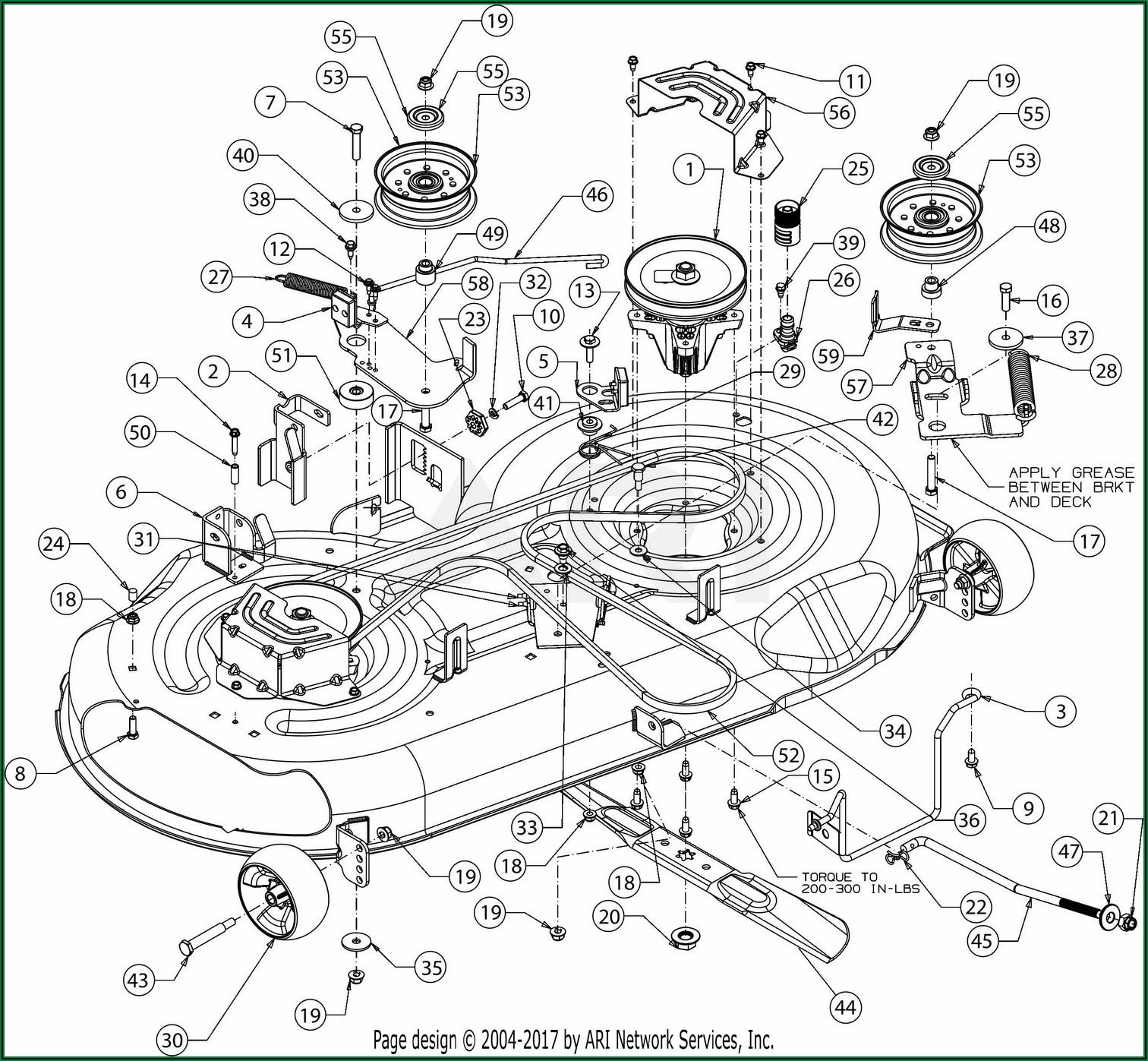 Troy Bilt 46 Riding Mower Belt Diagram