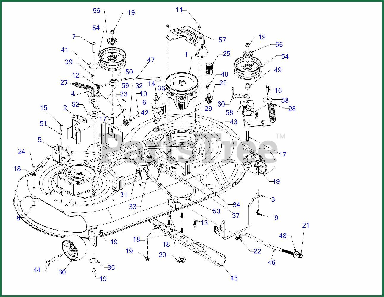 Troy Bilt 54 Inch Deck Belt Diagram