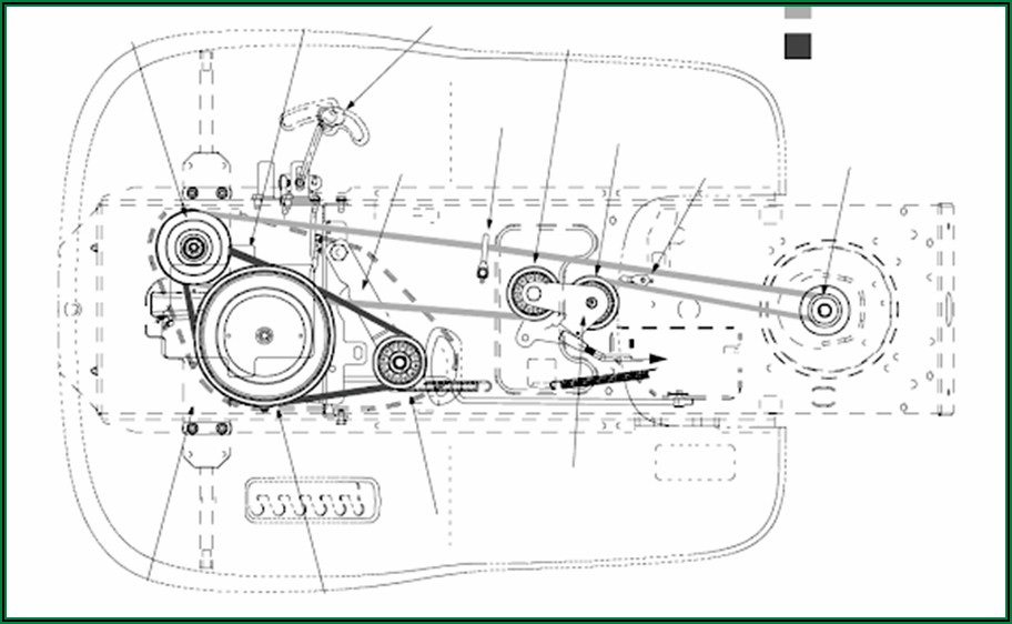 Troy Bilt Bronco Lawn Mower Belt Diagram
