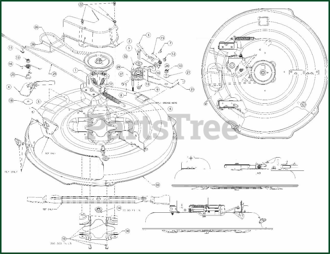 Troy Bilt Horse Mower Deck Diagram