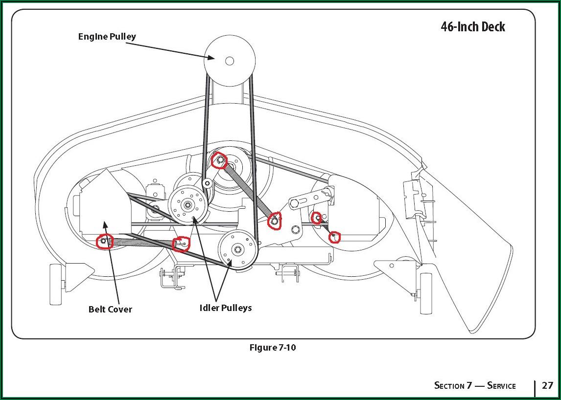 Troy Bilt Lawn Tractor Belt Diagram