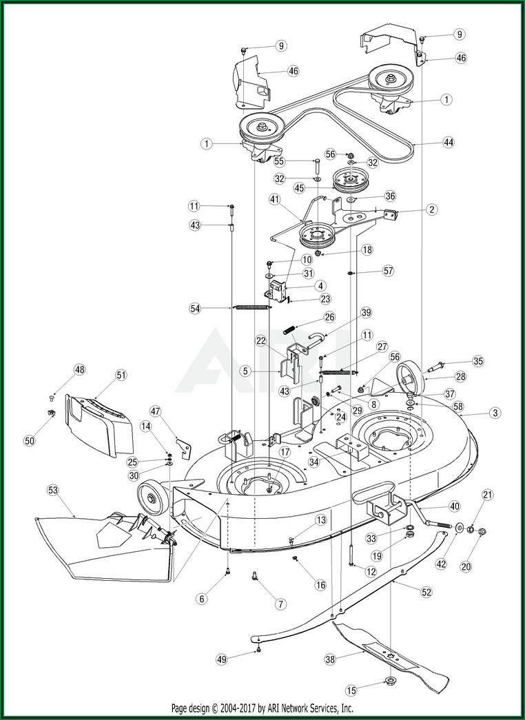 Troy Bilt Mower Deck Parts Diagram
