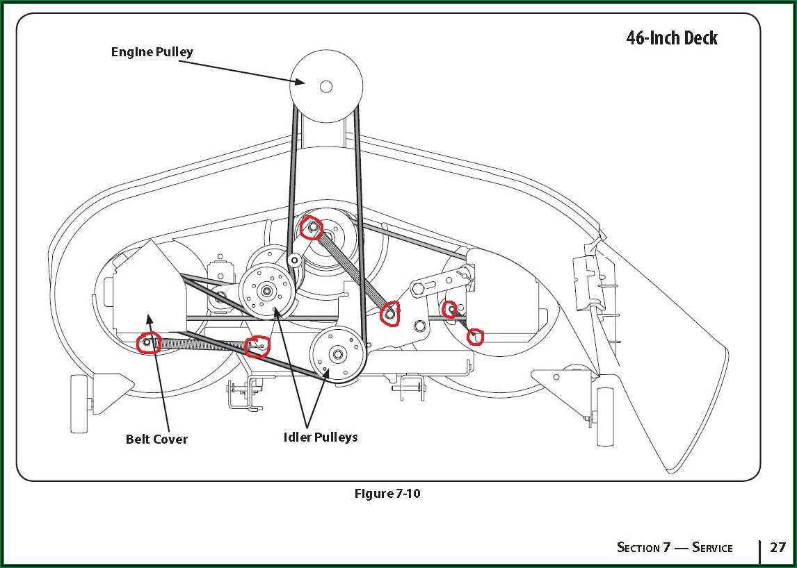 Troy Bilt Pony Lawn Tractor Belt Diagram