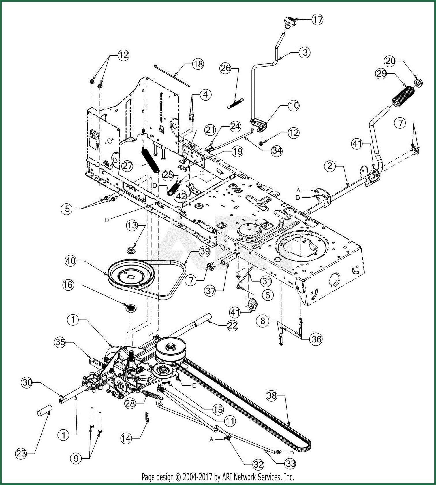 Troy Bilt Pony Mower Belt Diagram