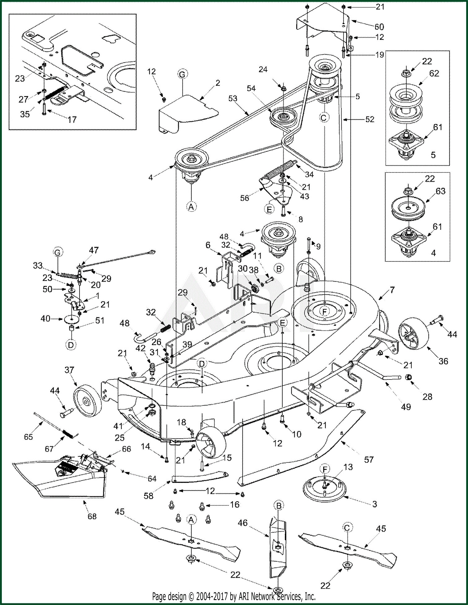 Troy Bilt Pony Mower Drive Belt Diagram