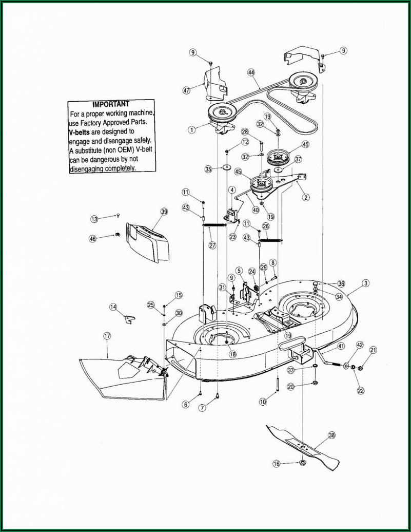 Troy Bilt Riding Mower Drive Belt Diagram