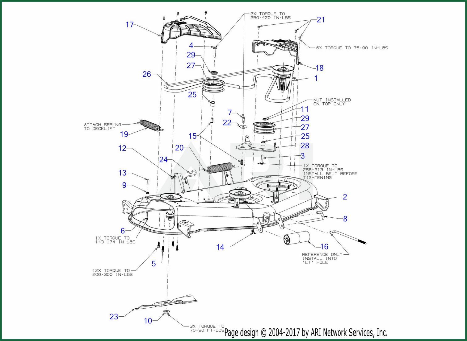 Troy Bilt Super Bronco Mower Belt Diagram