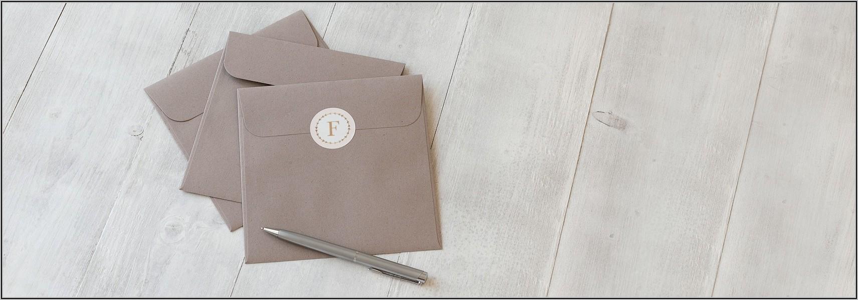 Vistaprint Envelope Seals Size