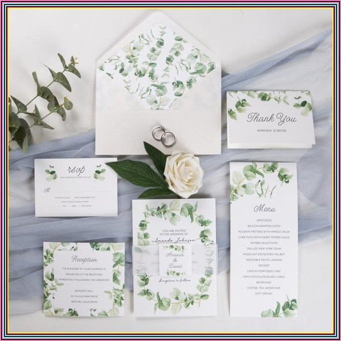 Wedding Invitation Assembly With Belly Band