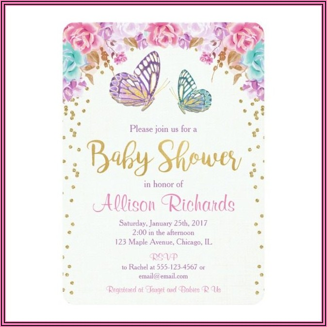 Welcome Home Baby Girl Invitations