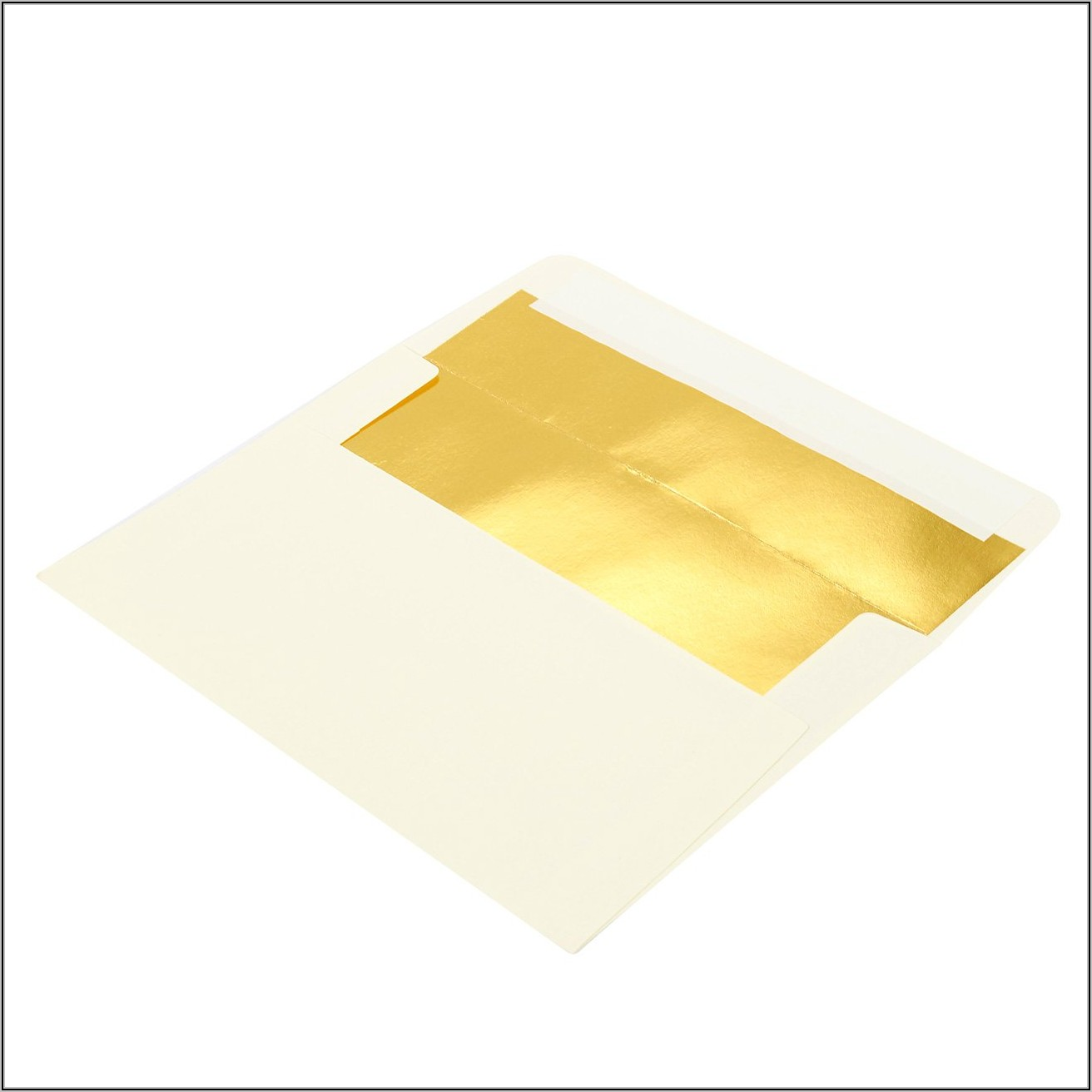 White Envelopes With Gold Lining
