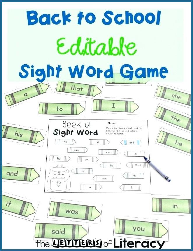 Worksheet Generator Sight Words