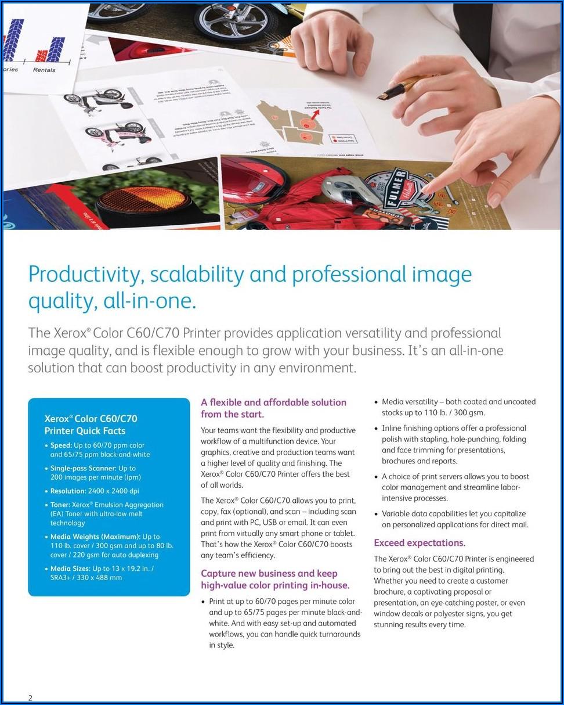 Xerox C70 Pro Brochure