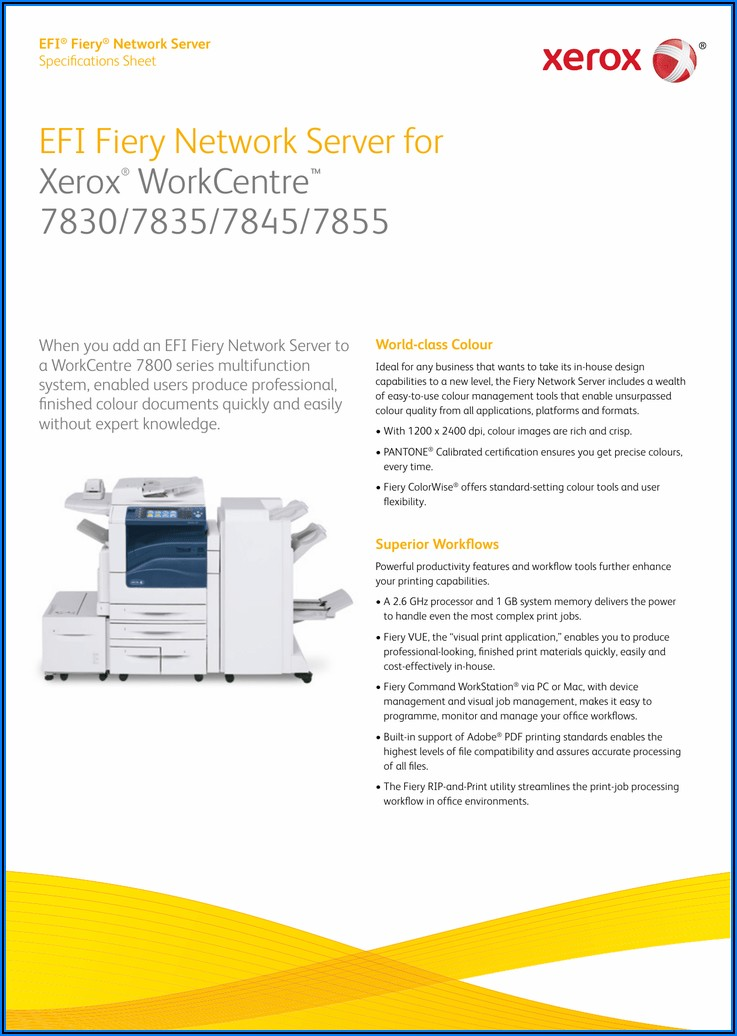 Xerox Workcentre 7835 Specs