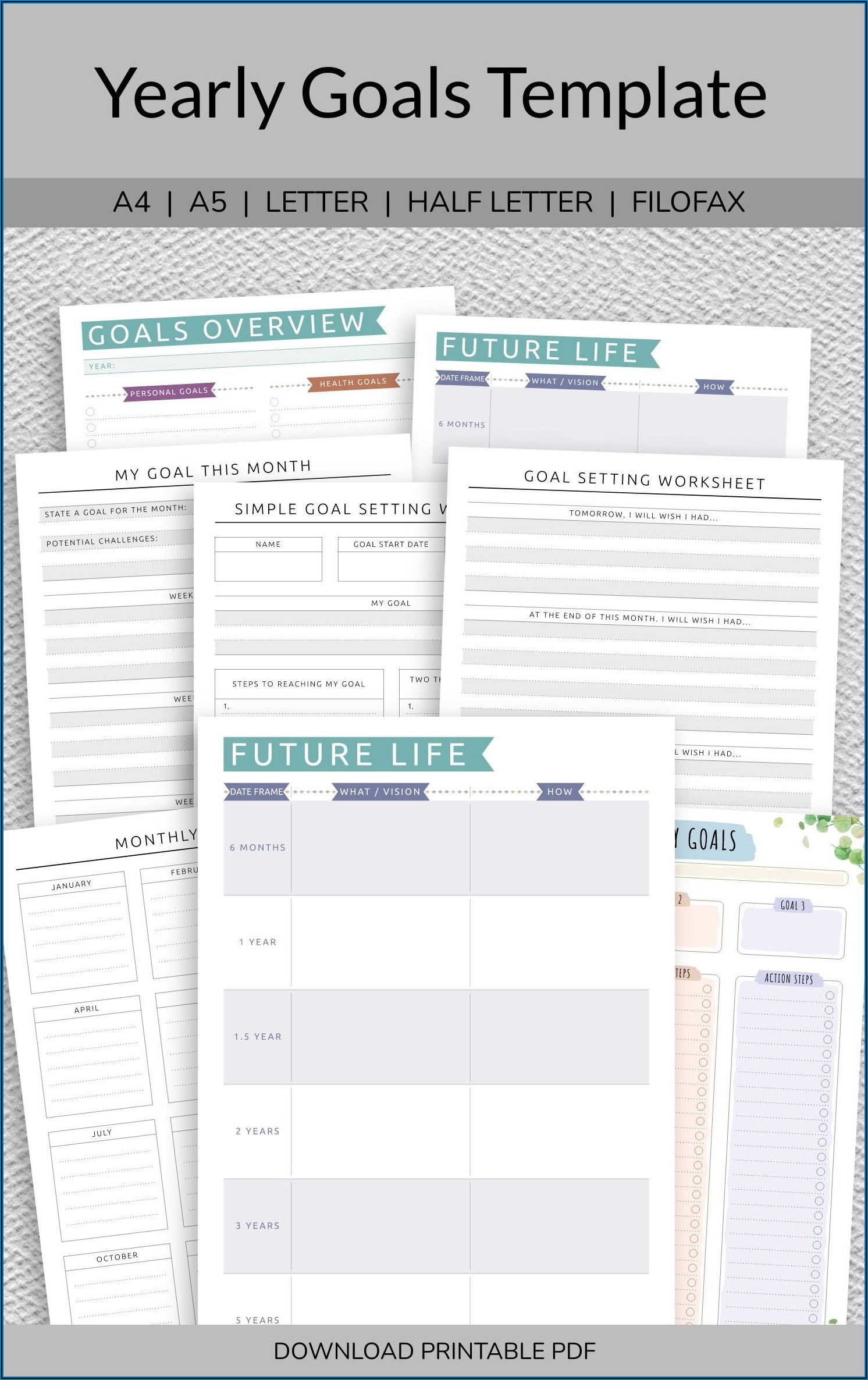 Yearly Goal Setting Template