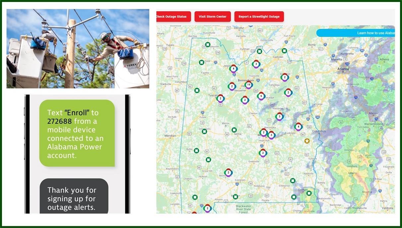 Alabama Electric Outage Map