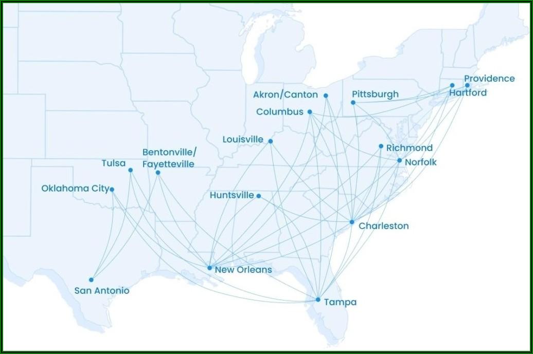 Allegiant Air Route Map Interactive