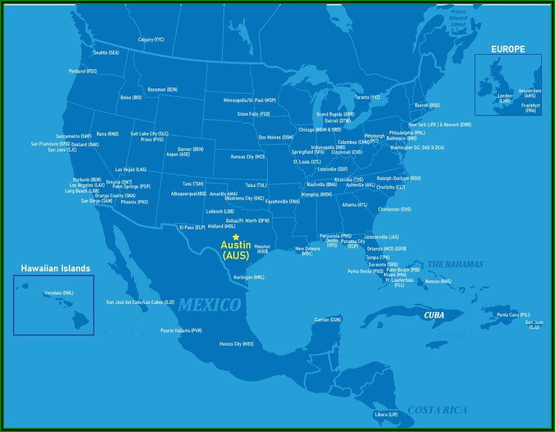 Allegiant Airlines Interactive Route Map