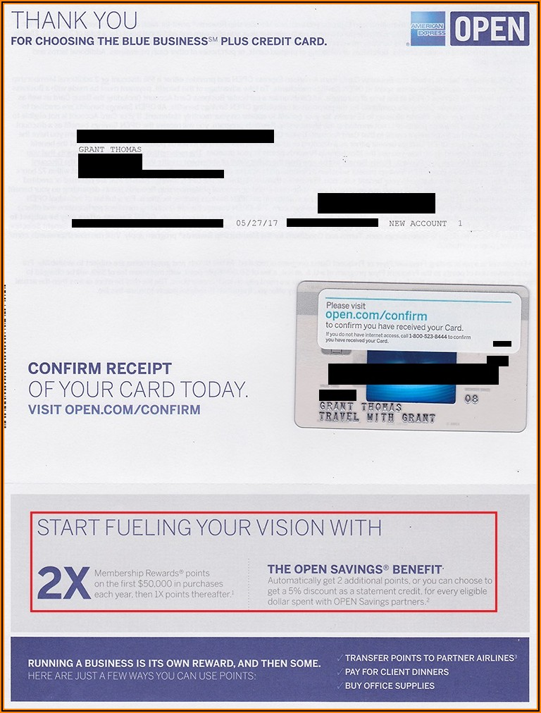 American Express Blue Business Plus Card