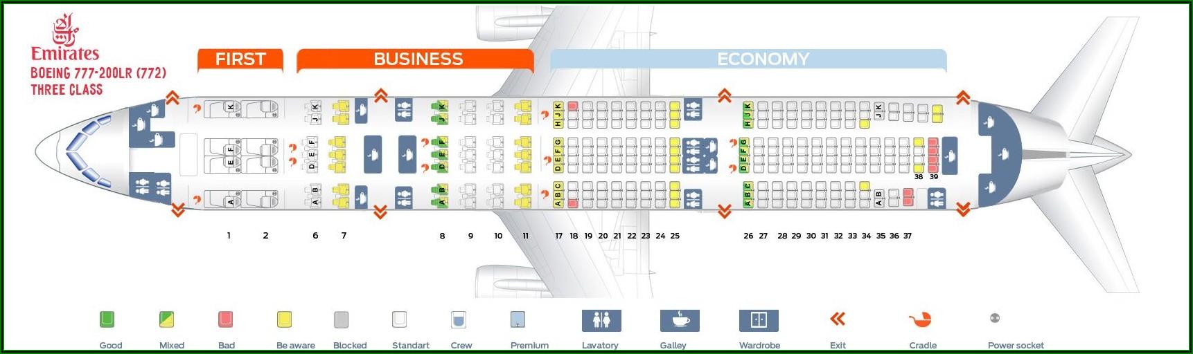 B777 300er Seat Map Emirates