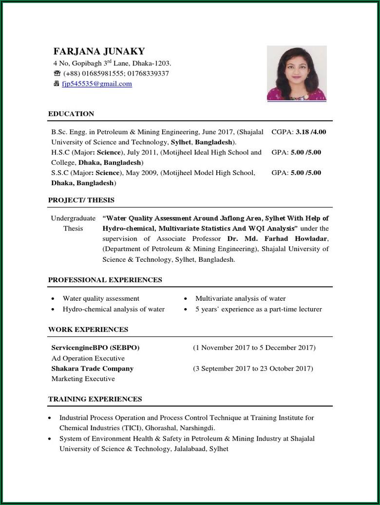 Bangladeshi Cv Format Pdf File Free Download