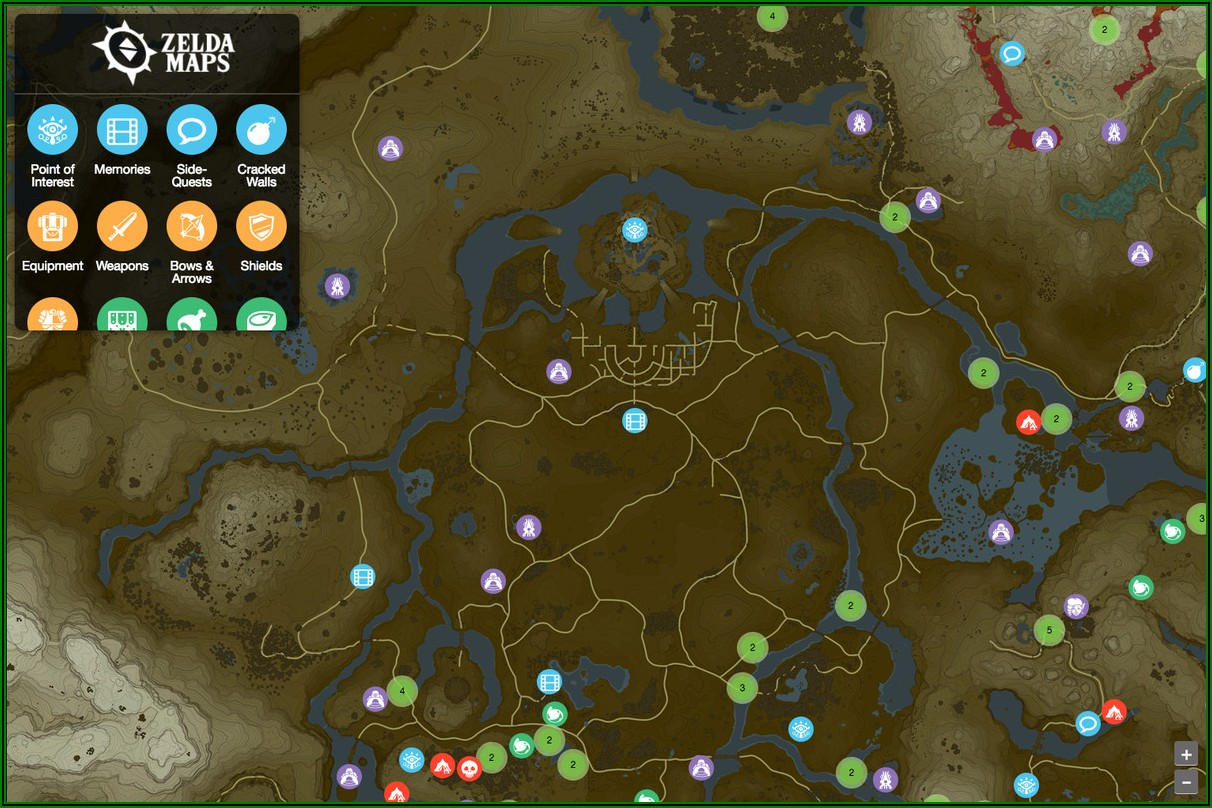 Best Breath Of The Wild Interactive Map