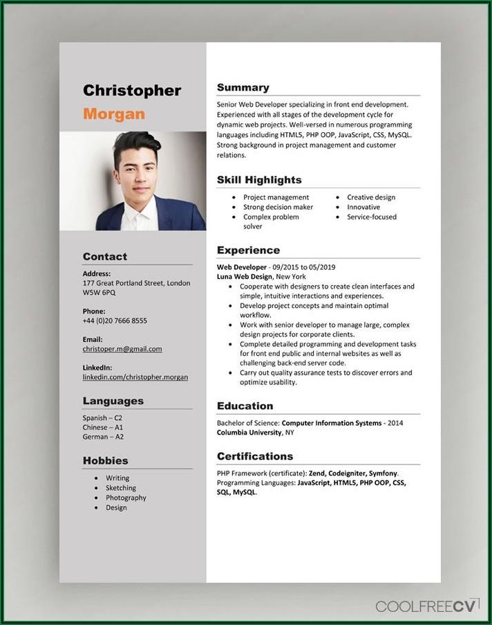 Best Resume Format Doc Download