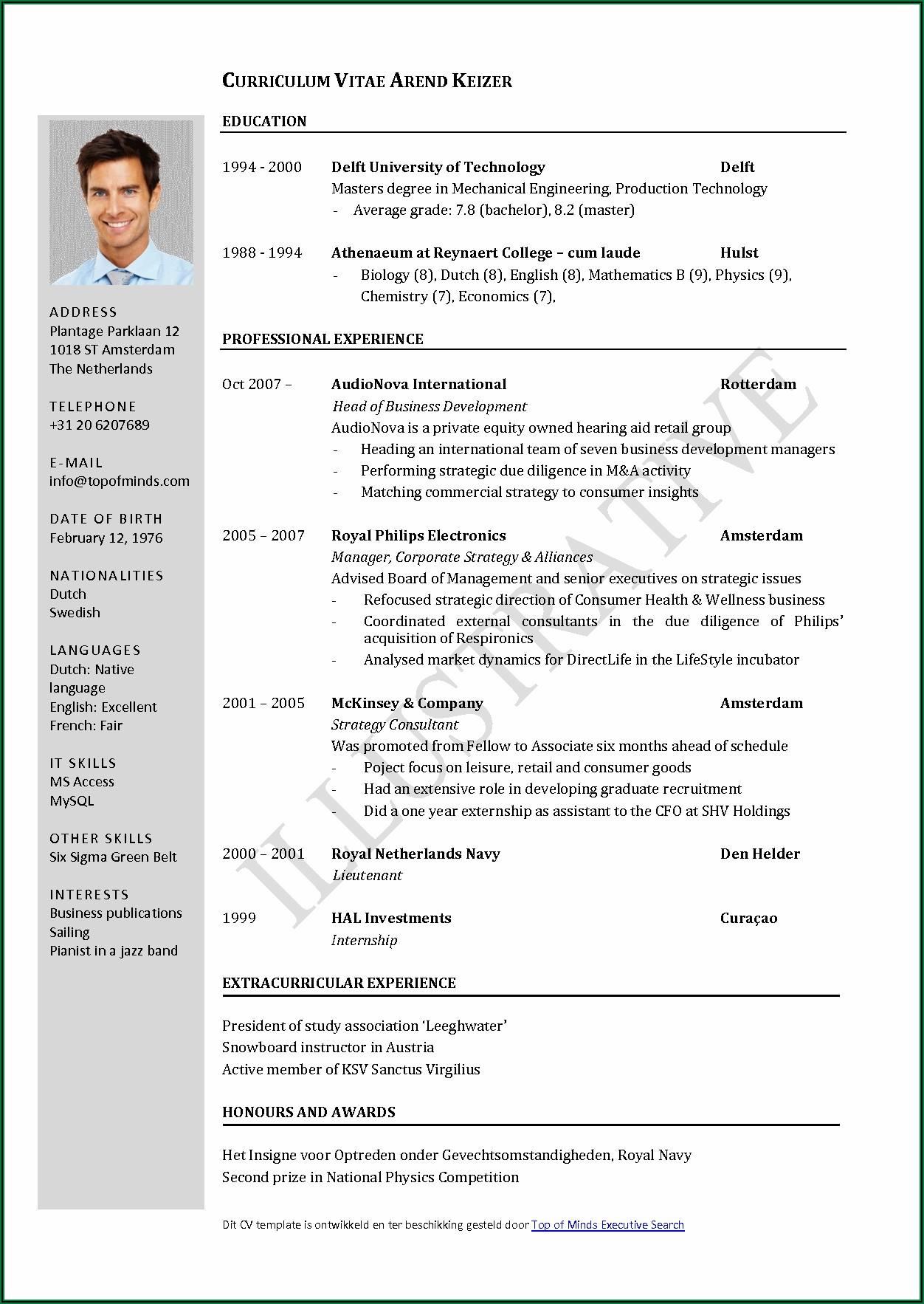 Best Resume Format Word File Download