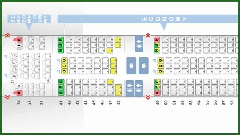 Boeing 777 300 Seat Map Singapore Airlines