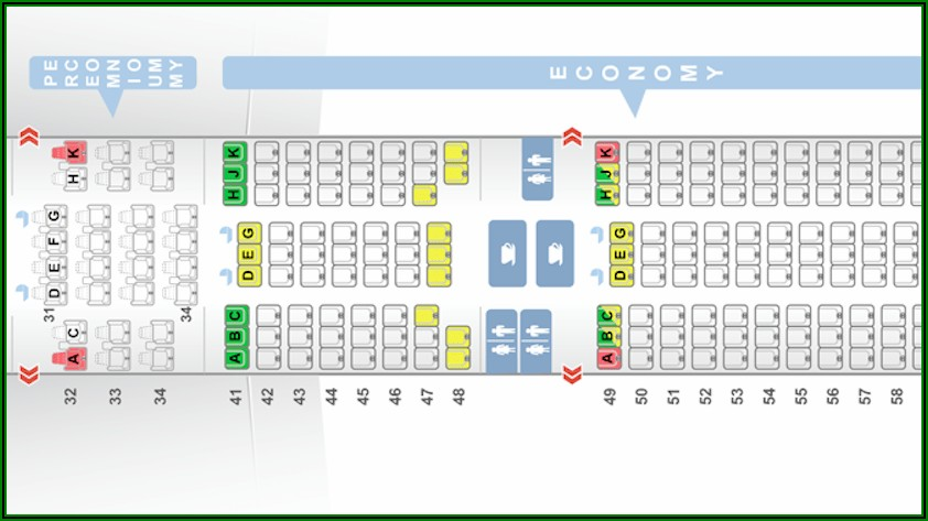 Boeing 777 300er 77w Cathay Pacific Seat Map