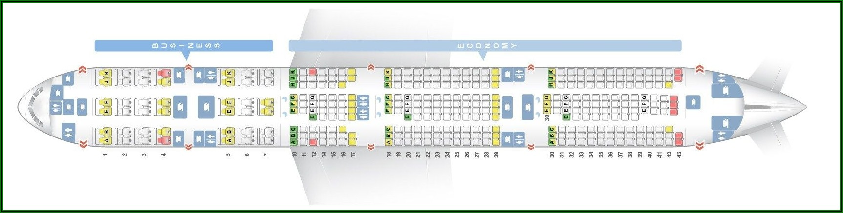 Boeing 777 300er Seat Map Qatar Airways