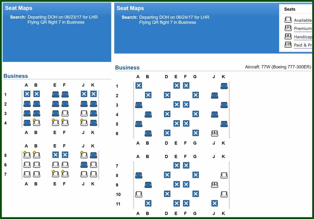 Boeing 777 300er Seat Map Qatar