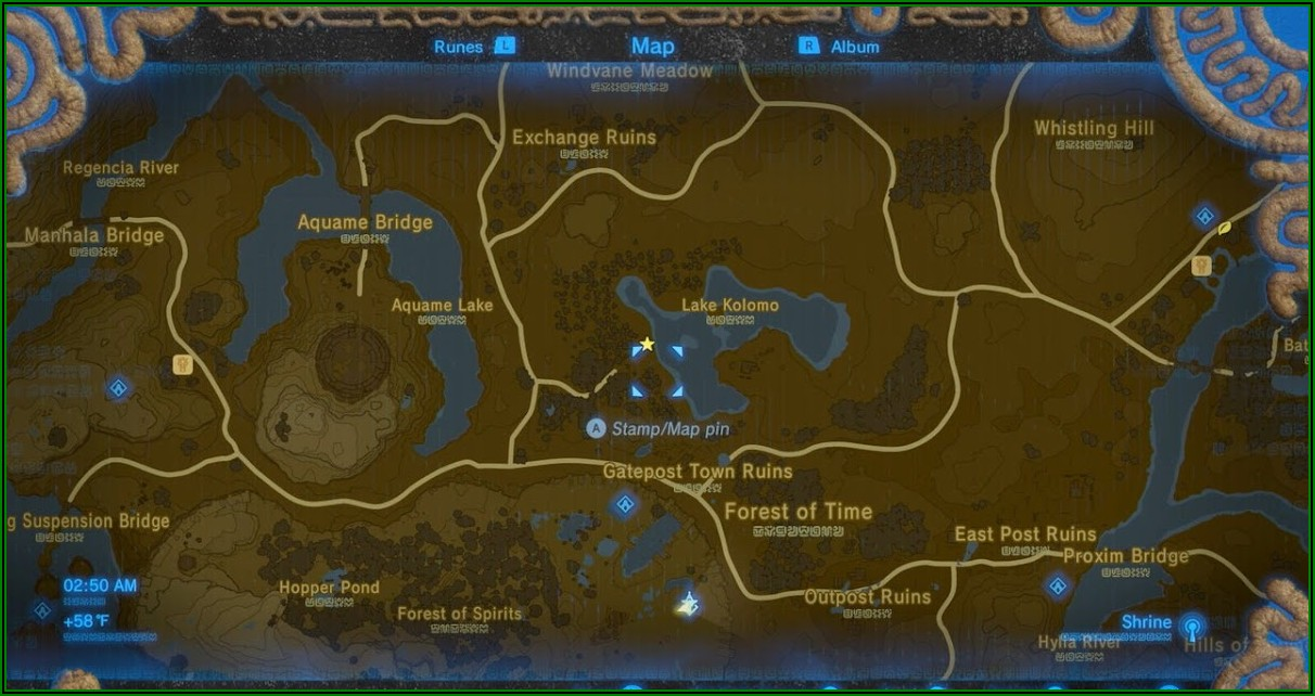 Breath Of The Wild Interactive Map Ign