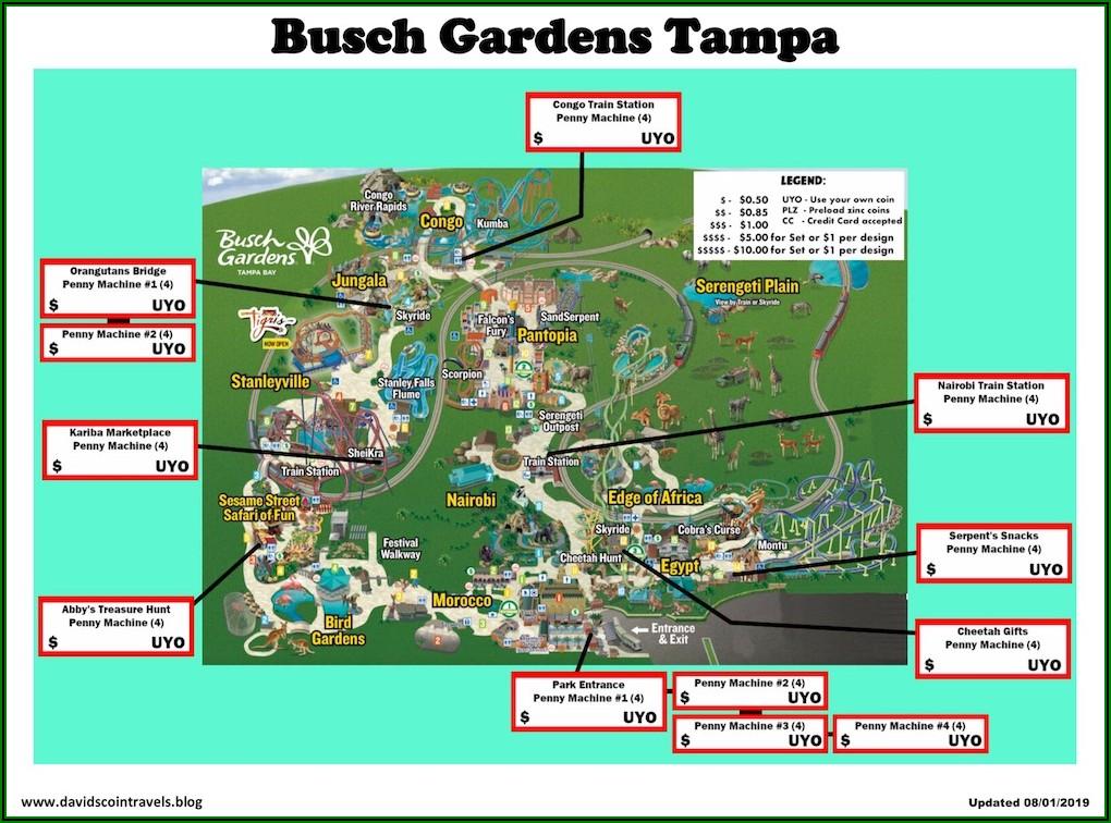 Busch Gardens Tampa Fl Map